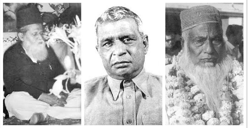 Muhammad Shahidullah, Dhirendranath Datta and Maulana Abdul Hamid Khan Bhashani