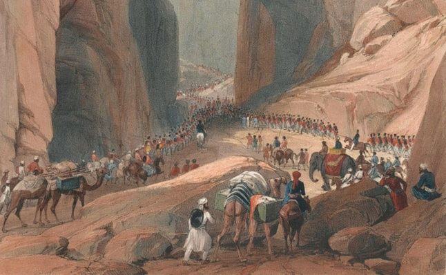 The Army of the Indus marching into Afghanistan in 1839 | UK National Army Museum