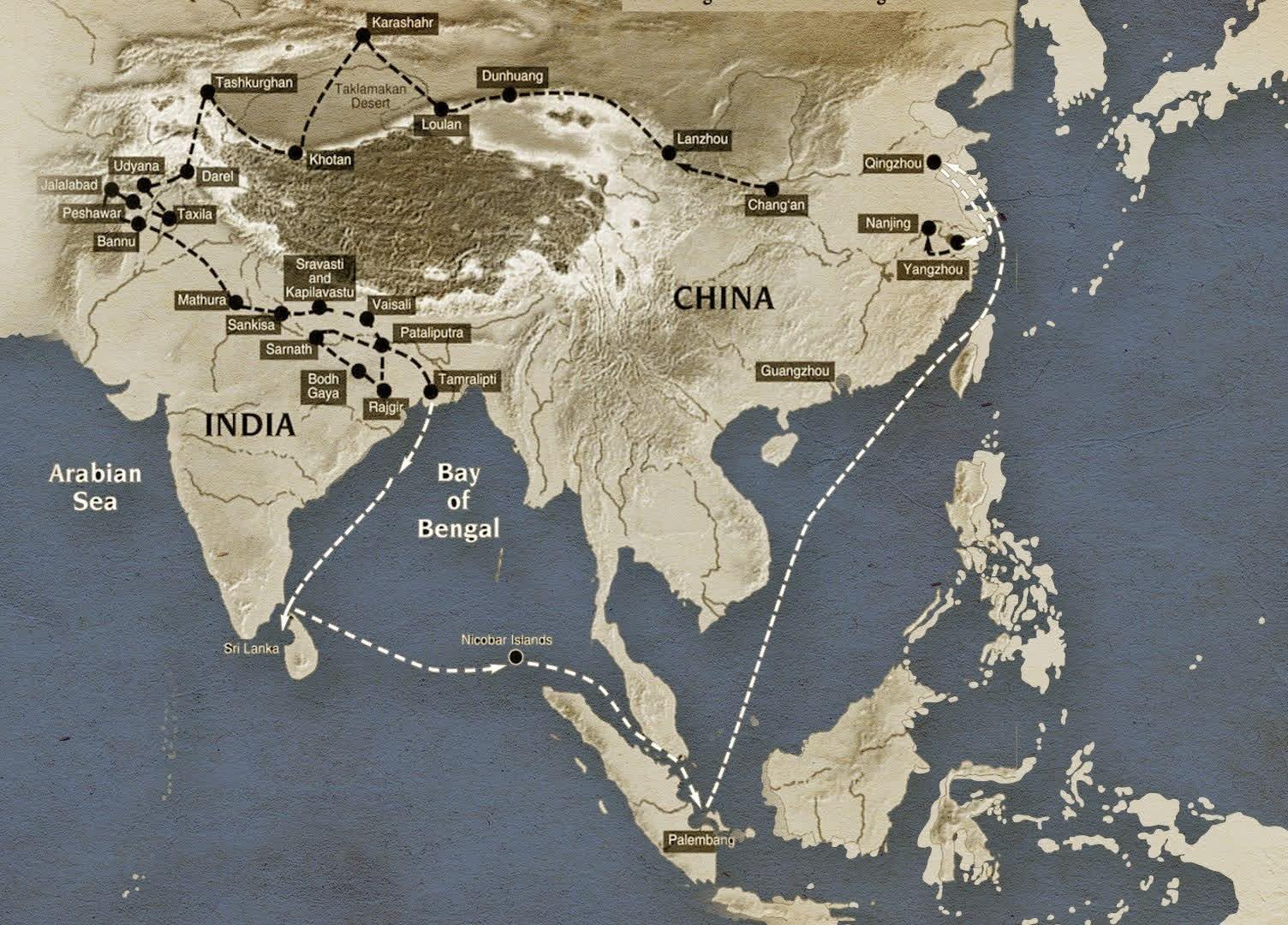 Fa Hien's route