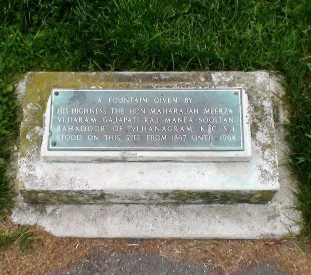 Plaque marking the Maharajah's Fountain | www.londonremebers.com