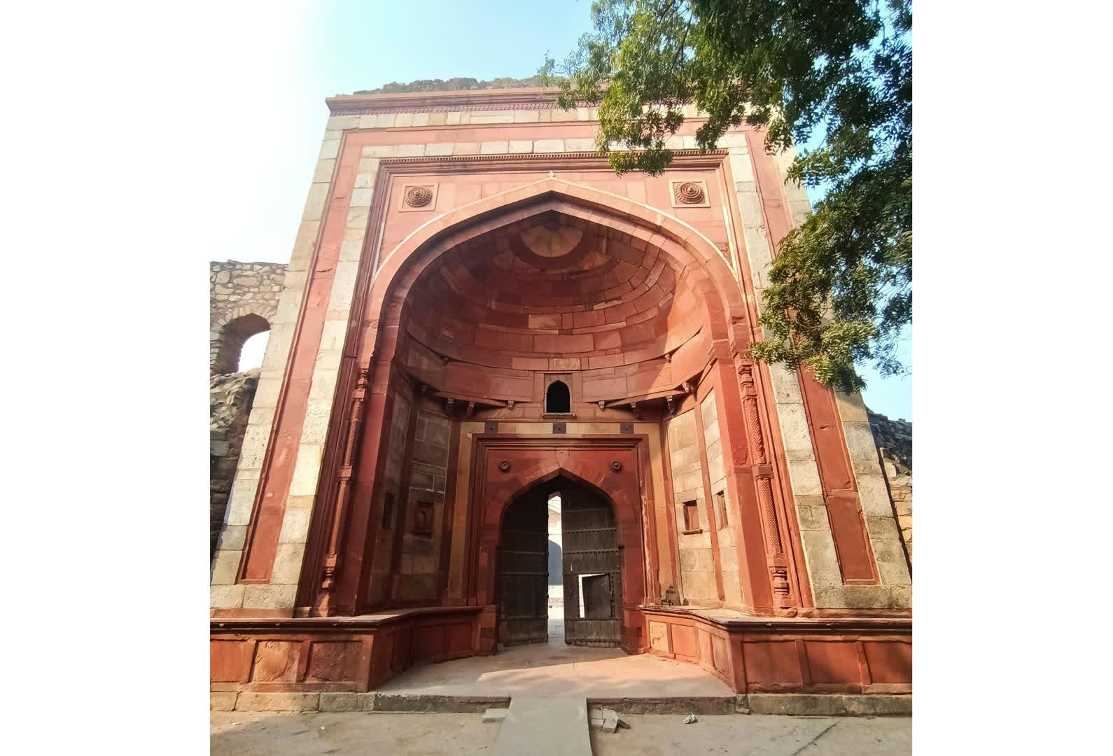 The main entrance to Khair-ul-Manzil