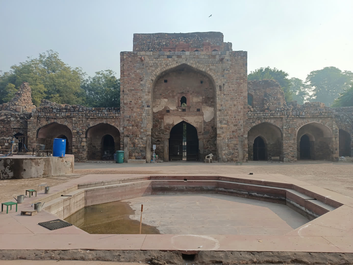 View from the mosque towards the entrance gate