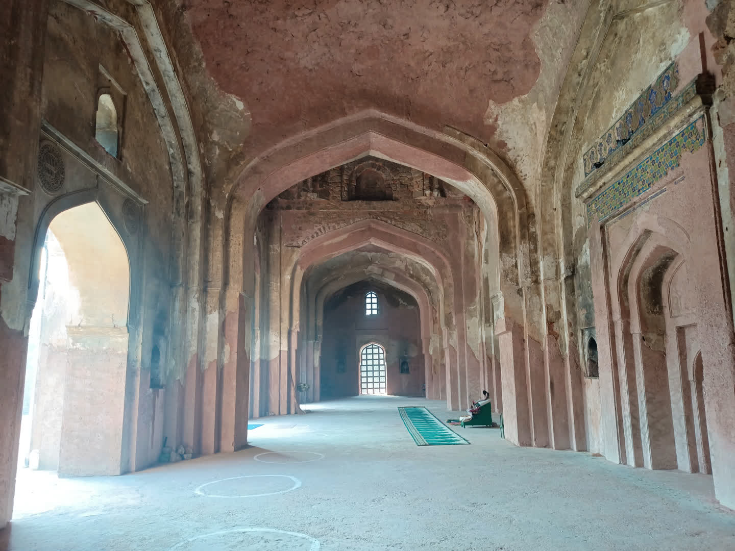 Interiors of the mosque