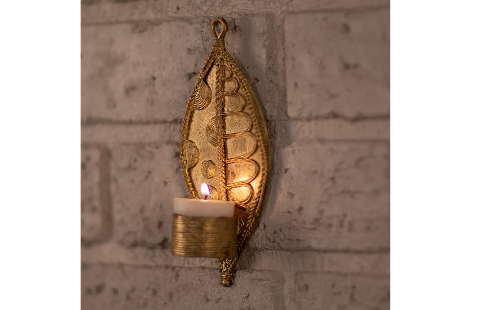 Dhokra Lamp   Peepul Tree