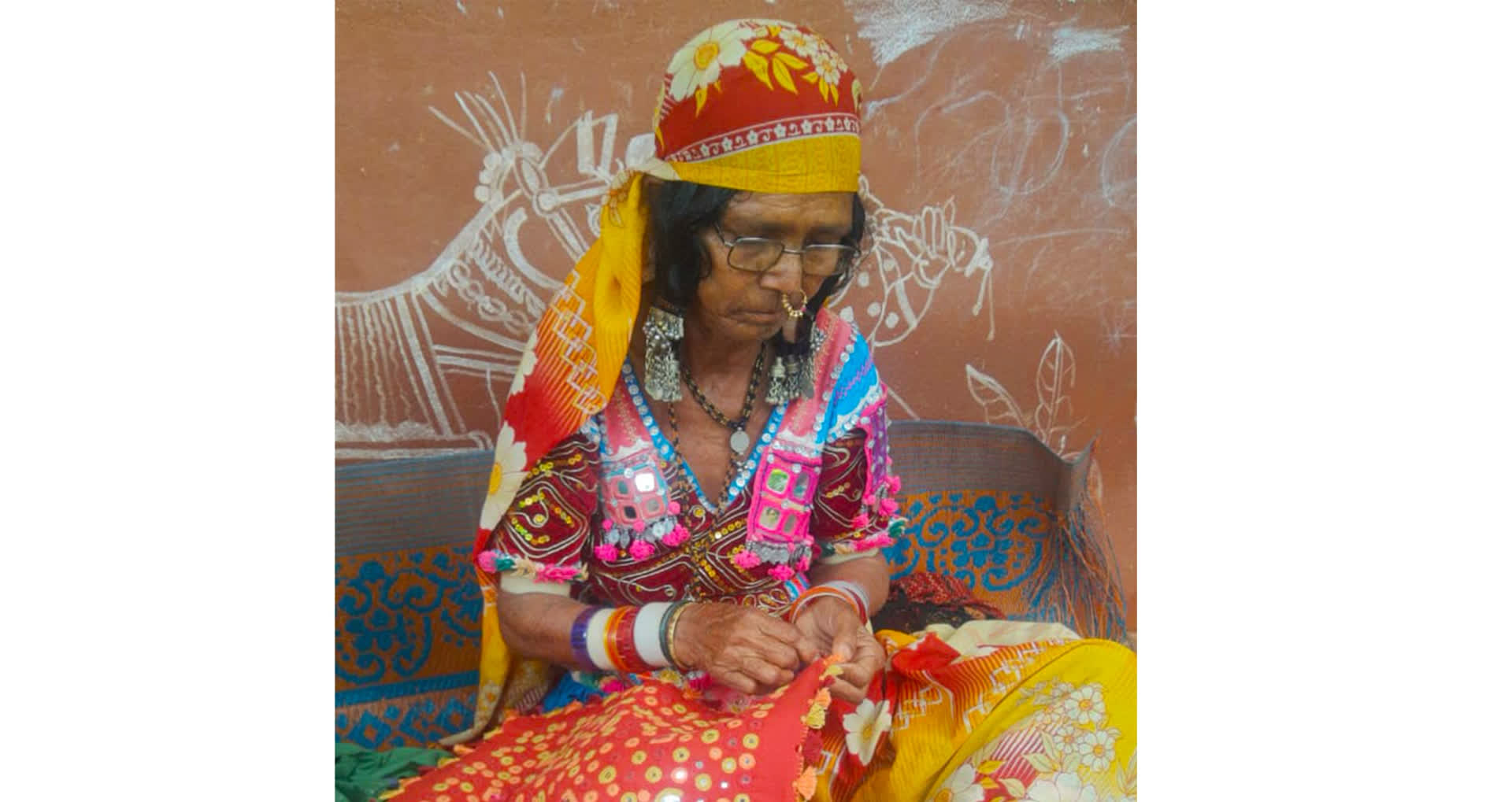 A Lambani woman dressed in the traditional attire