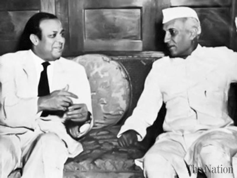 Muhammad Ali Bogra and Jawaharlal Nehru