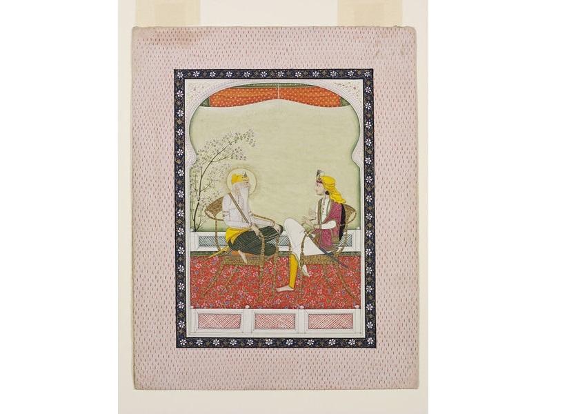 Maharaja Ranjit Singh with Hira Singh Dogra
