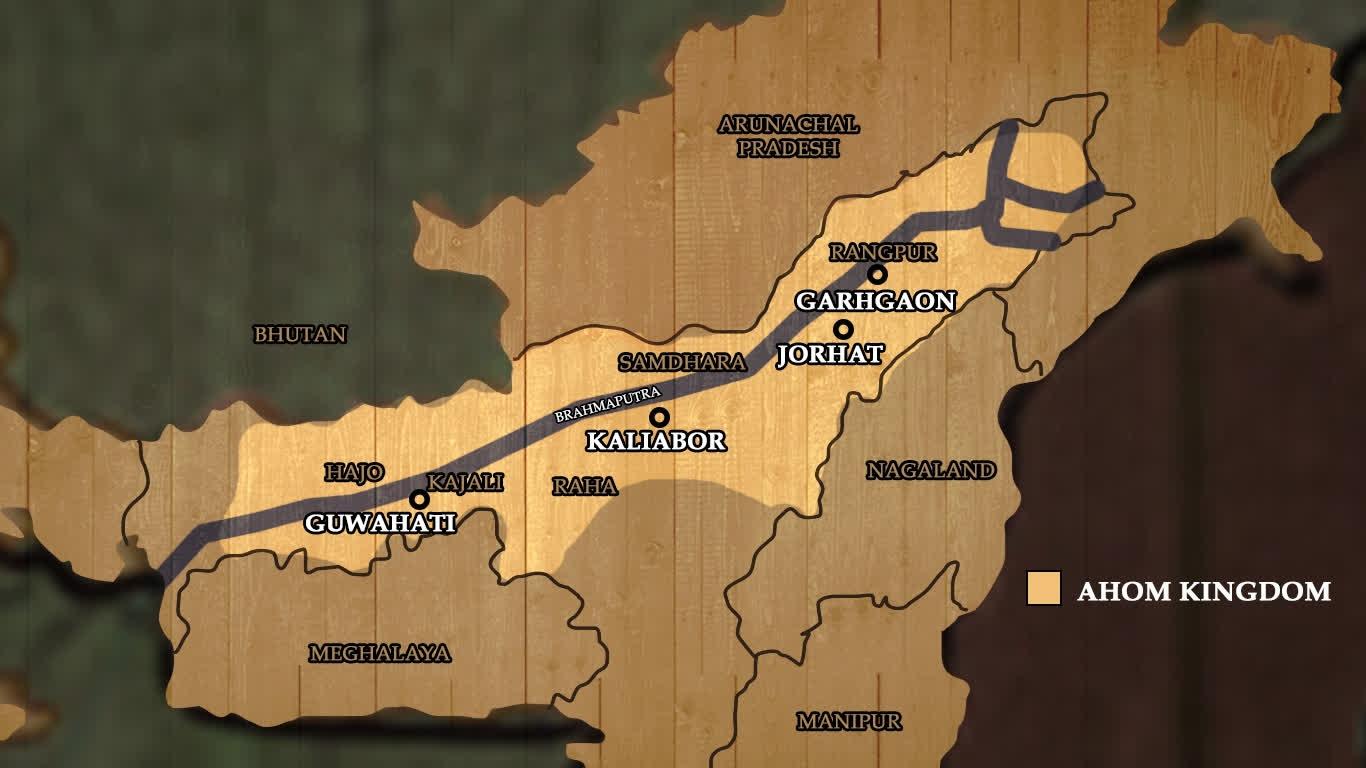 The extent of the Ahom kingdom | LHI