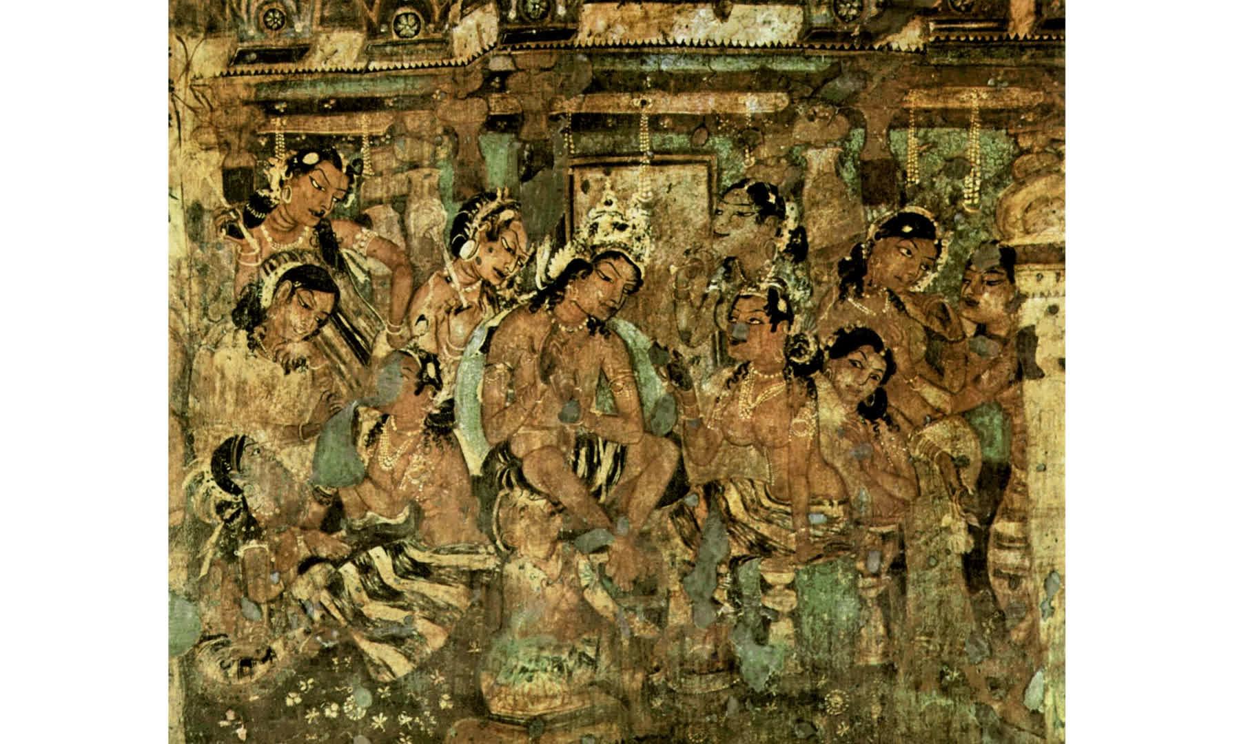 Ikat in Ajanta Murals