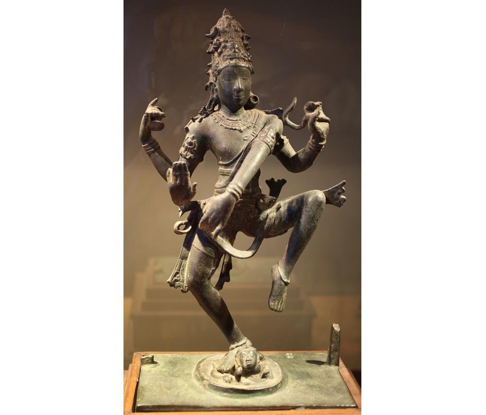 Fig 2: Pallava image of dancing Siva, Kuram | Government Museum, Chennai