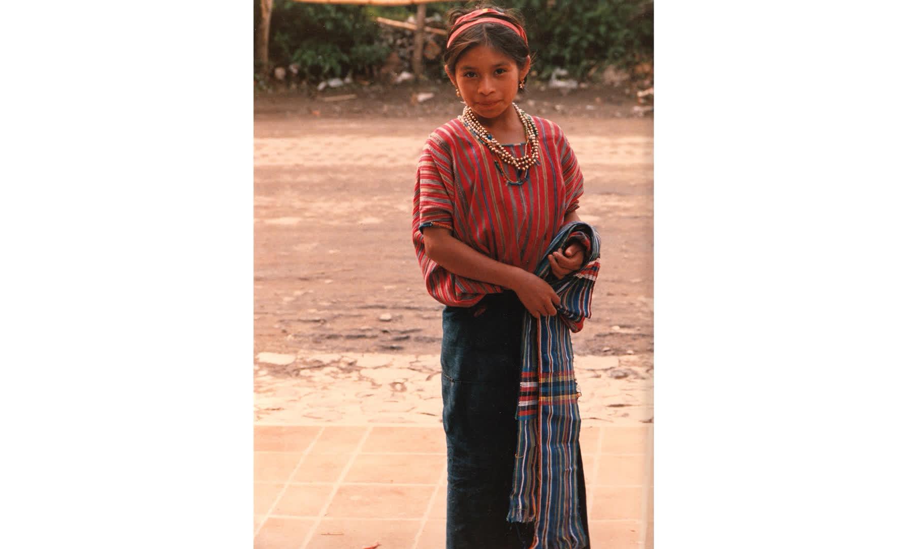 Woman of Guatemala in Ikat clothing