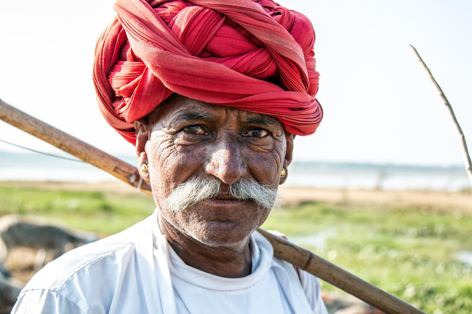 A member of the Rabari Tribe wearing a turban