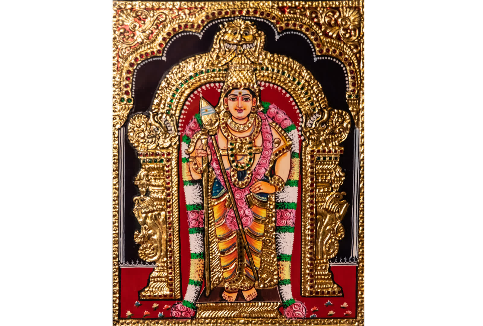 A Tanjore Painting dedicated to Kartikeya | Peepul Tree