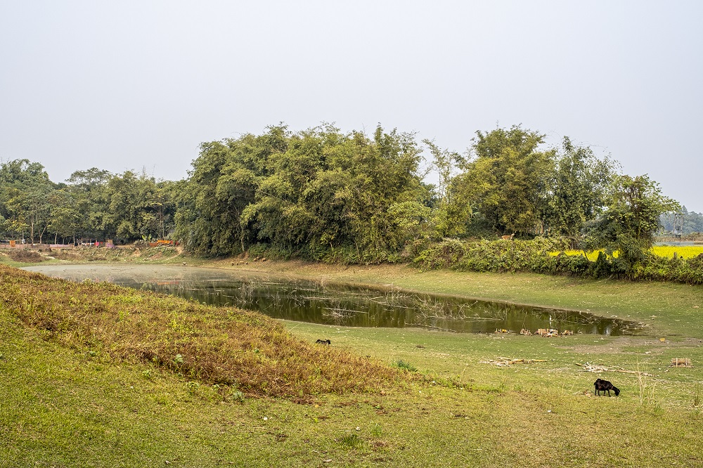 Remains of the moat of Rajpat Fort