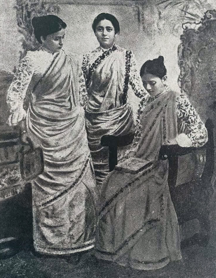 Sucharu Devi (sitting) with her sisters