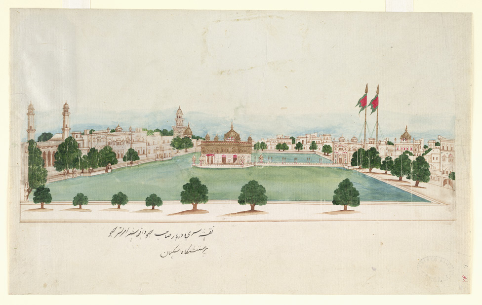 A watercolour painting of the shrine from 1860 | British Library