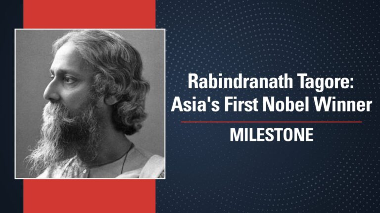 Rabindranath Tagore: Asia's First Nobel Winner