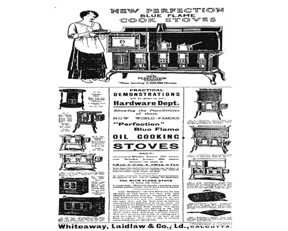 Gas: The Antidote to Smoke | The Statesman, 14 Jan. 1917. 'With these wonderful stoves', the advertisement reads, 'cooking can be done in your own room, verandah, orwherever you wish, for there is neither smell, smoke, nor dick'