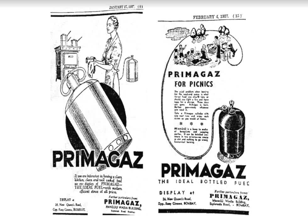 Picnic with the Comfort of Gas | The Times of India, 27 Jan. 1937; 4 Feb. 1937