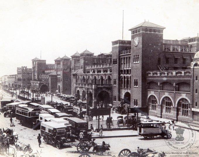 Scene in front of Howrah station, 1930s