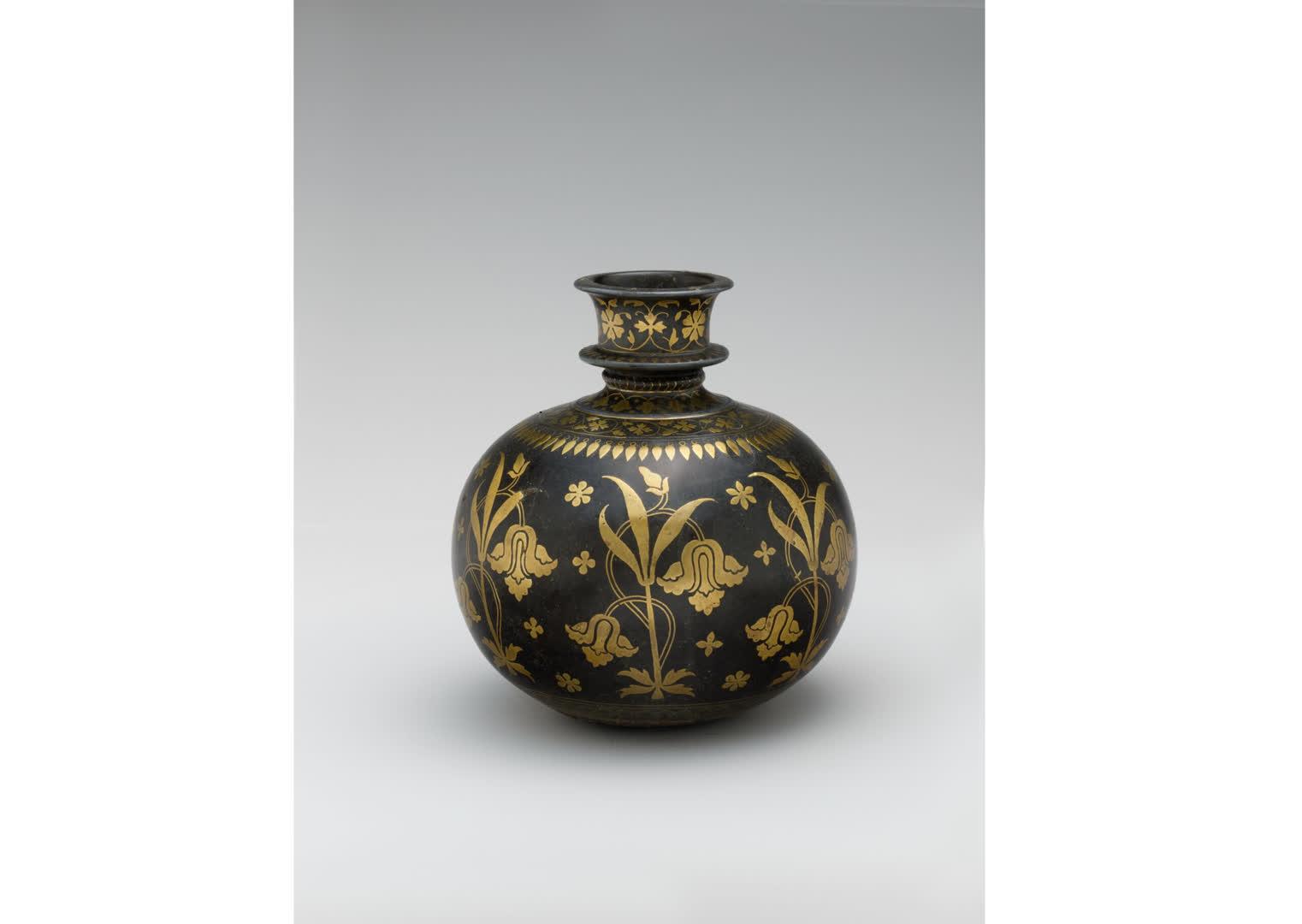 Hukka base with Bidri work, 17th century | The Metropolitan Museum of Art