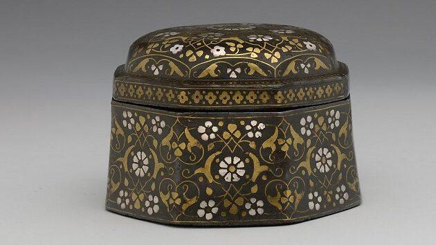 Bidriware with floral motifs | The Metropolitan Museum of Art.