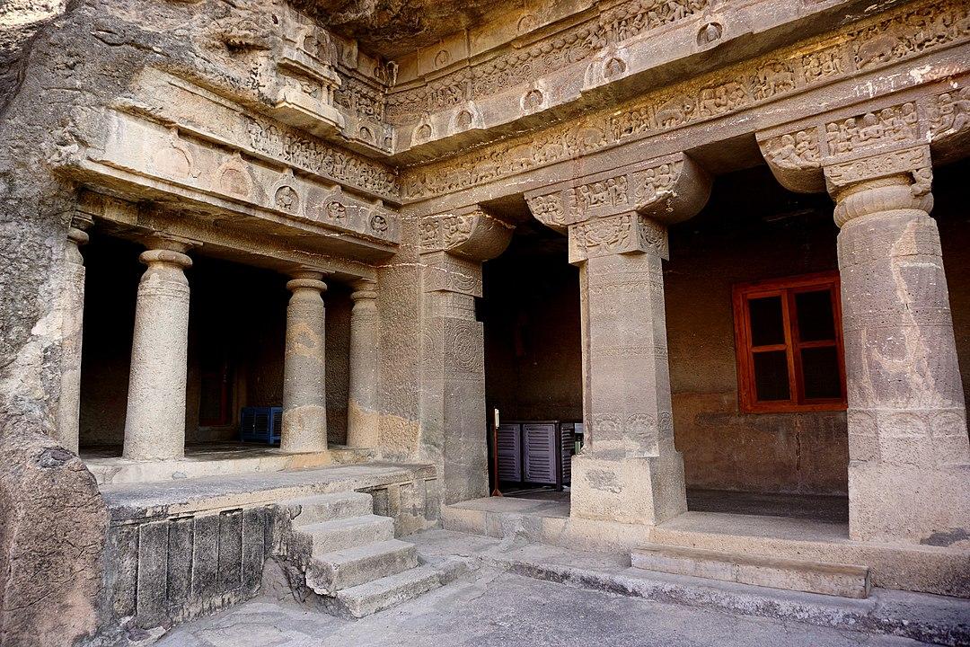 Cave No. 1 at Ajanta, commisioned by Harisena