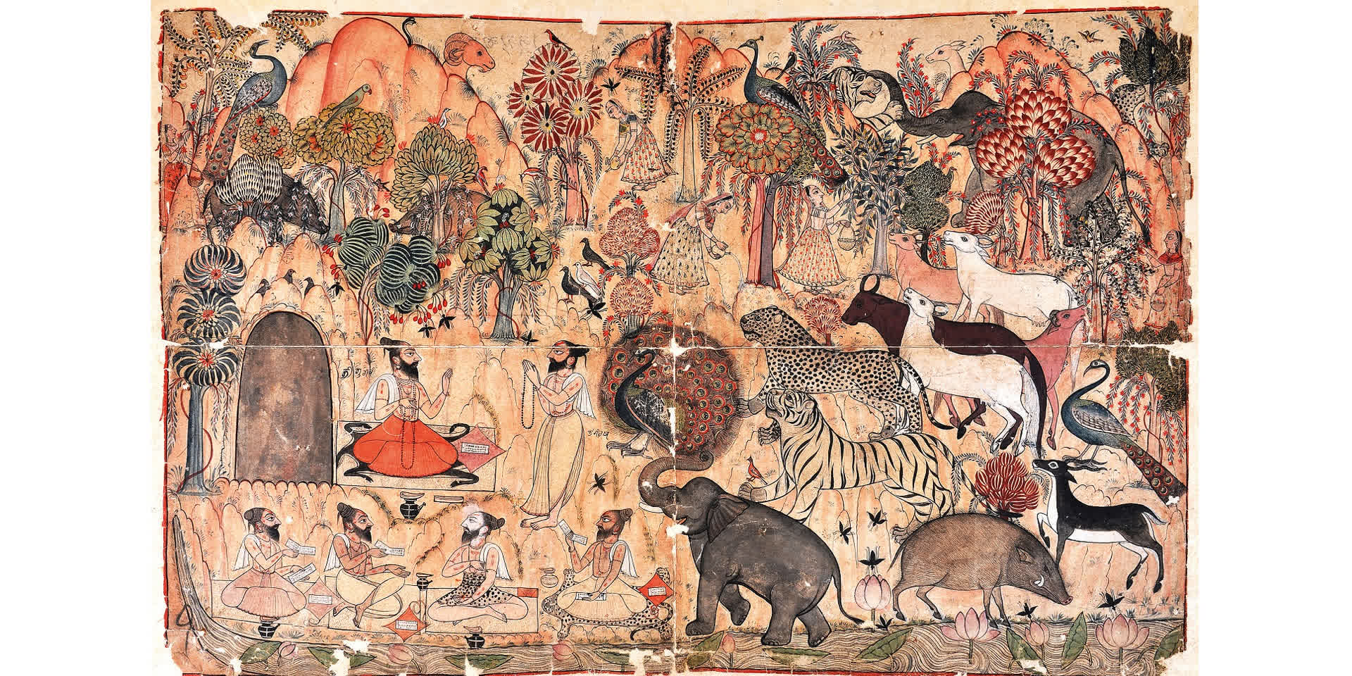 Sage Angiras Paying Homage To Sage Bhrighu | Niyogi Books