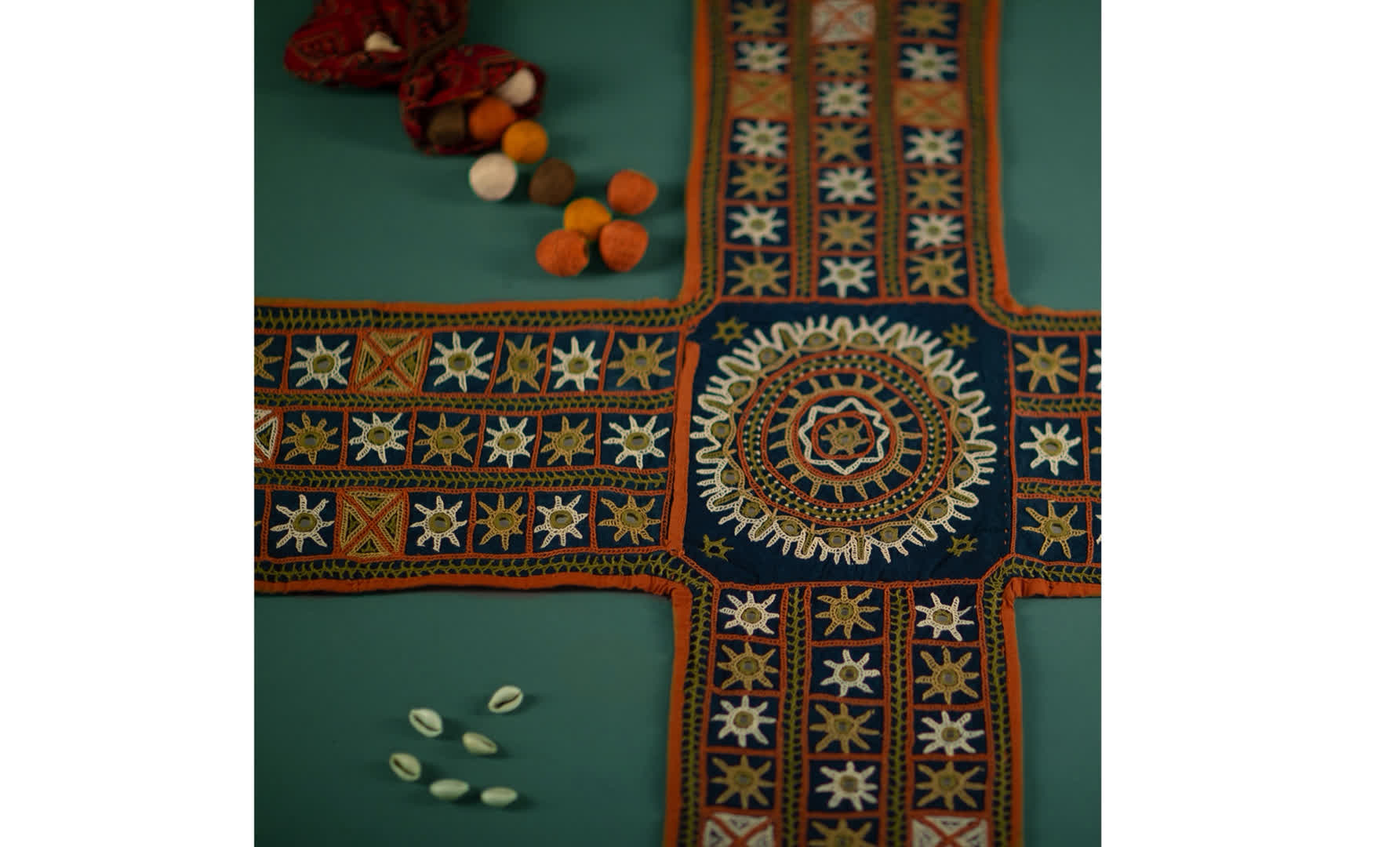 Traditional game of Chopad, with Kutchi Embroidery   Peepul Tree