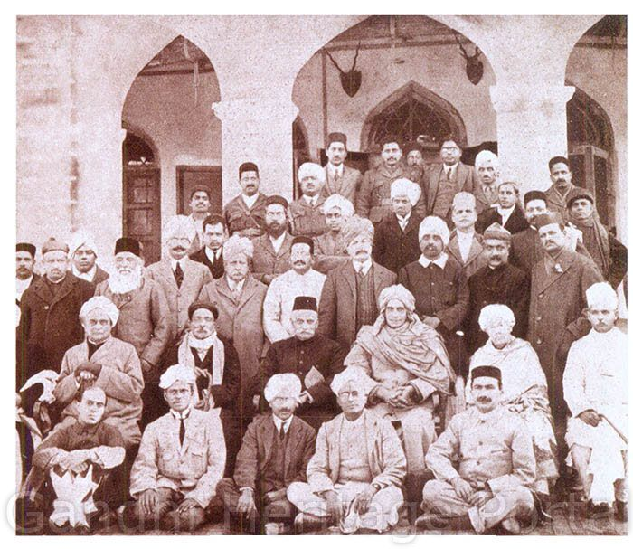 Senior Congress leaders at Amritsar Town Hall after the Congress Session of 1919