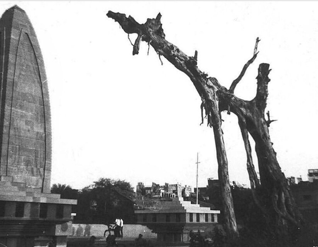 An old photo of the memorial