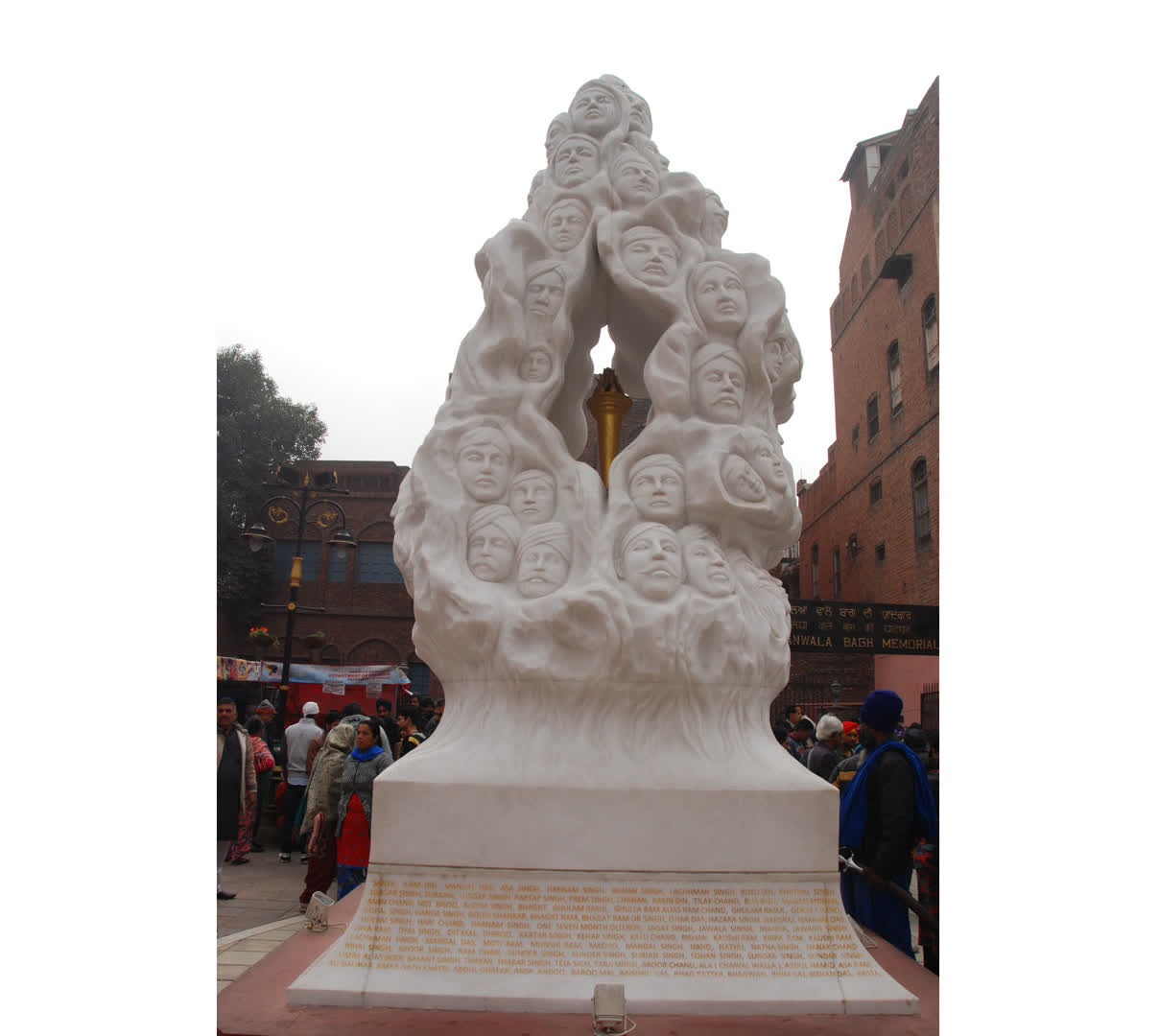 Statue dedicated to victims of Jallianwala Bagh massacre