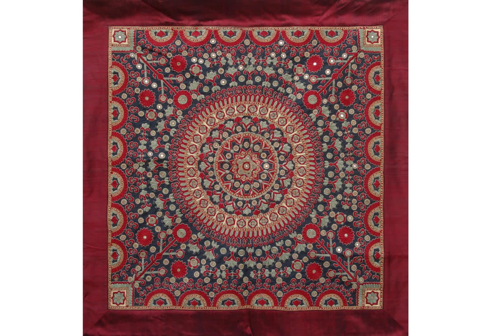 Pako embroidery work done by the women of Meghwar Community   Qasab Kutch Crafts