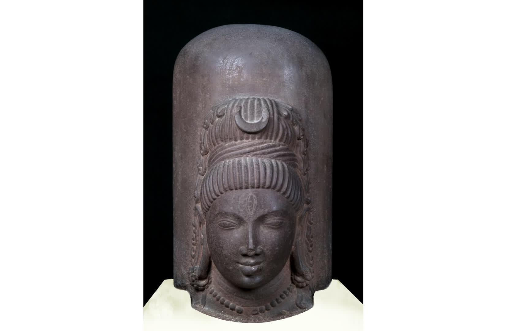 Ekmukha Shiva Linga | Allahabad Museum