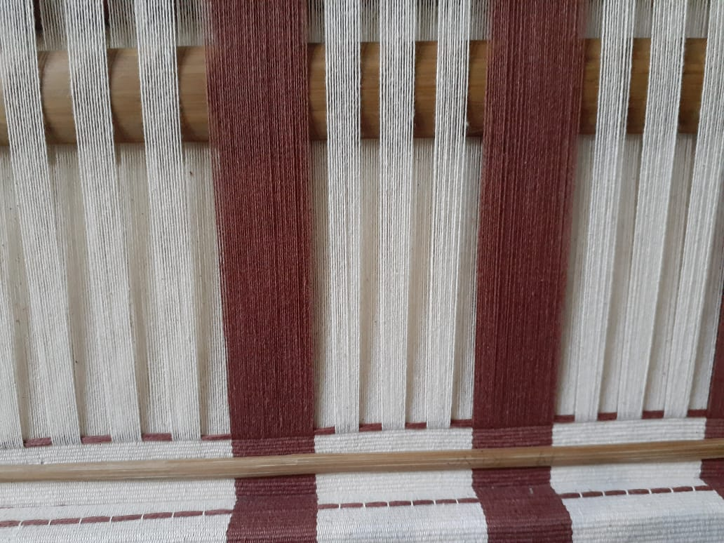 The dyed threads