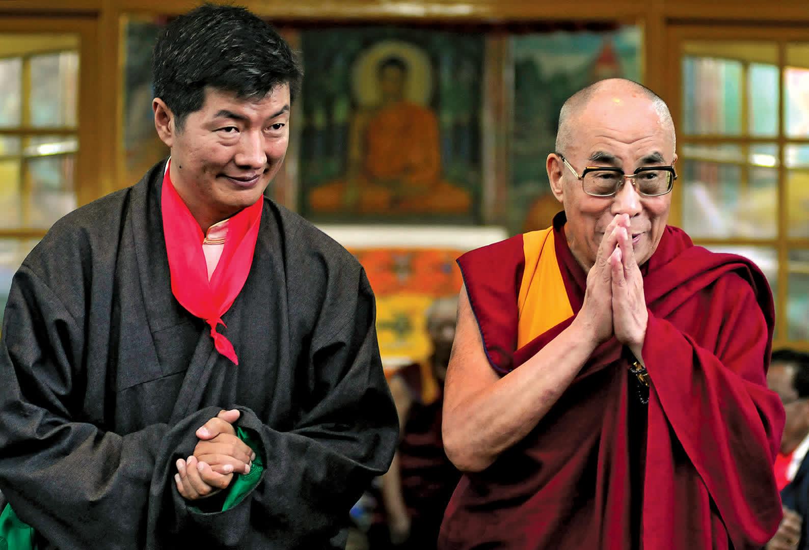 Lobsang Sangay and the 14th Dalai Lama