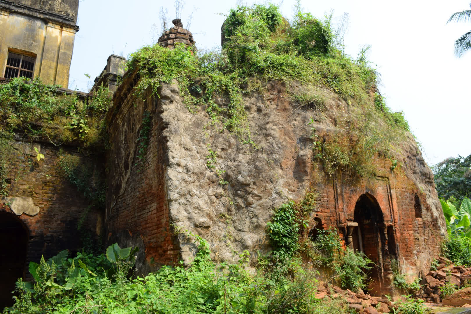 The ruined Joy Durga Temple where once the family deity – The Golden Durga obtained by divine intervention was worshipped. The deity was established in 1303 and the temple was built at a much later period.   Narajole Rajbari