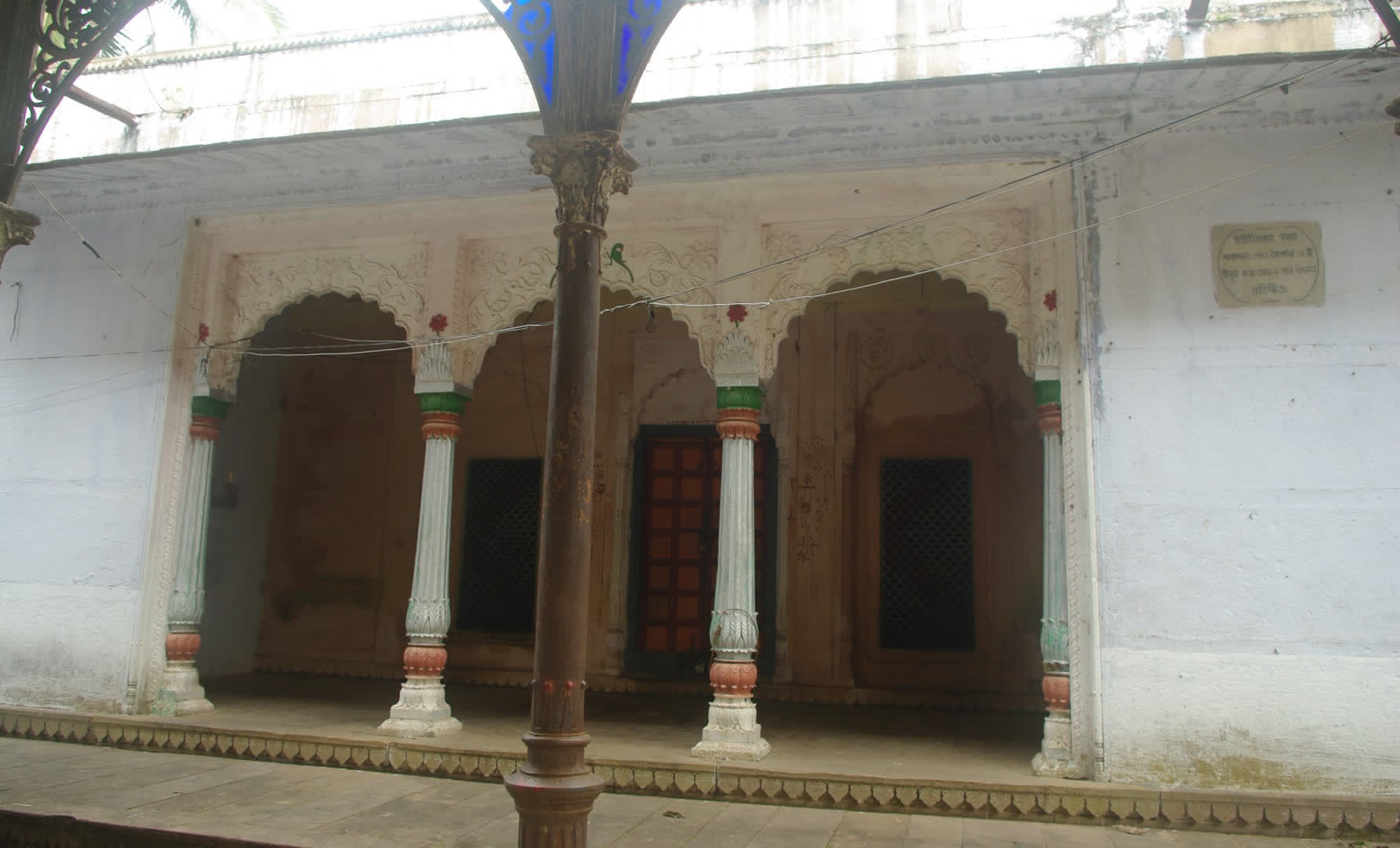 Sitaram Jiu temple which was built in 1819 at a cost of Rs 1 lakh. The temple is said to have been built with stones brought from Ayodhya, the place described as birth place of Rama in the Hindu epic Ramayana.   Narajole Rajbari