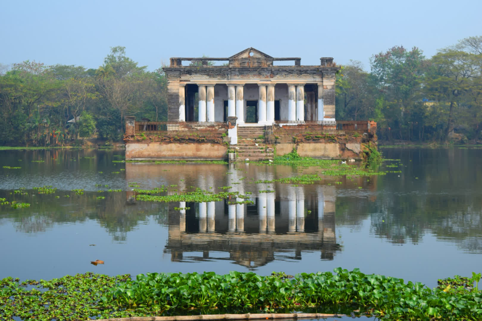The water palace Jalahari . The cost of building the palace and building the water tank with a garden on its bank was Rs 80,000 in 1818   Narajole Rajbari
