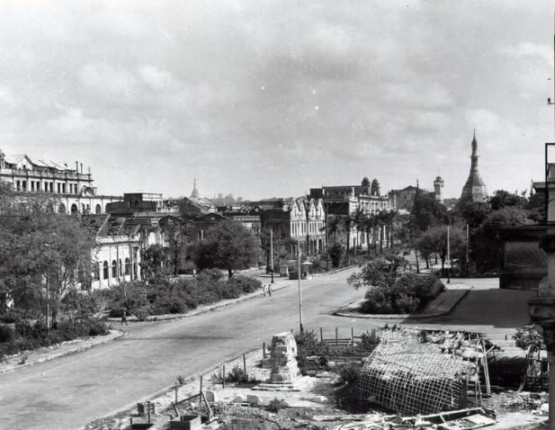 Rangoon's fall during World War II