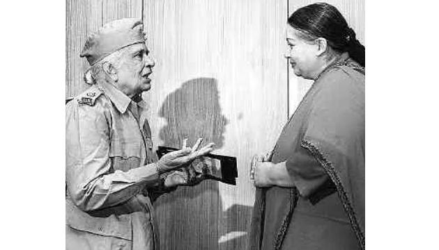Saraswathi Rajamani with former Tamil Nadu Chief Minister, J Jayalalitha