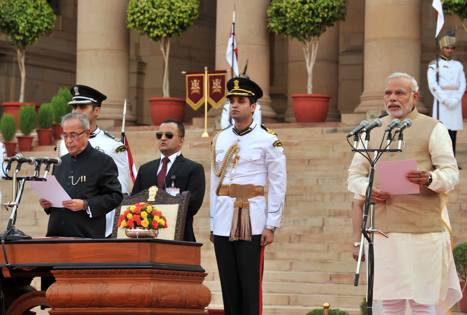 First swearing-in ceremony of Narendra Modi