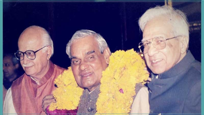 LK Advani, Atal Behari Vajpayee and Sikandar Bakht