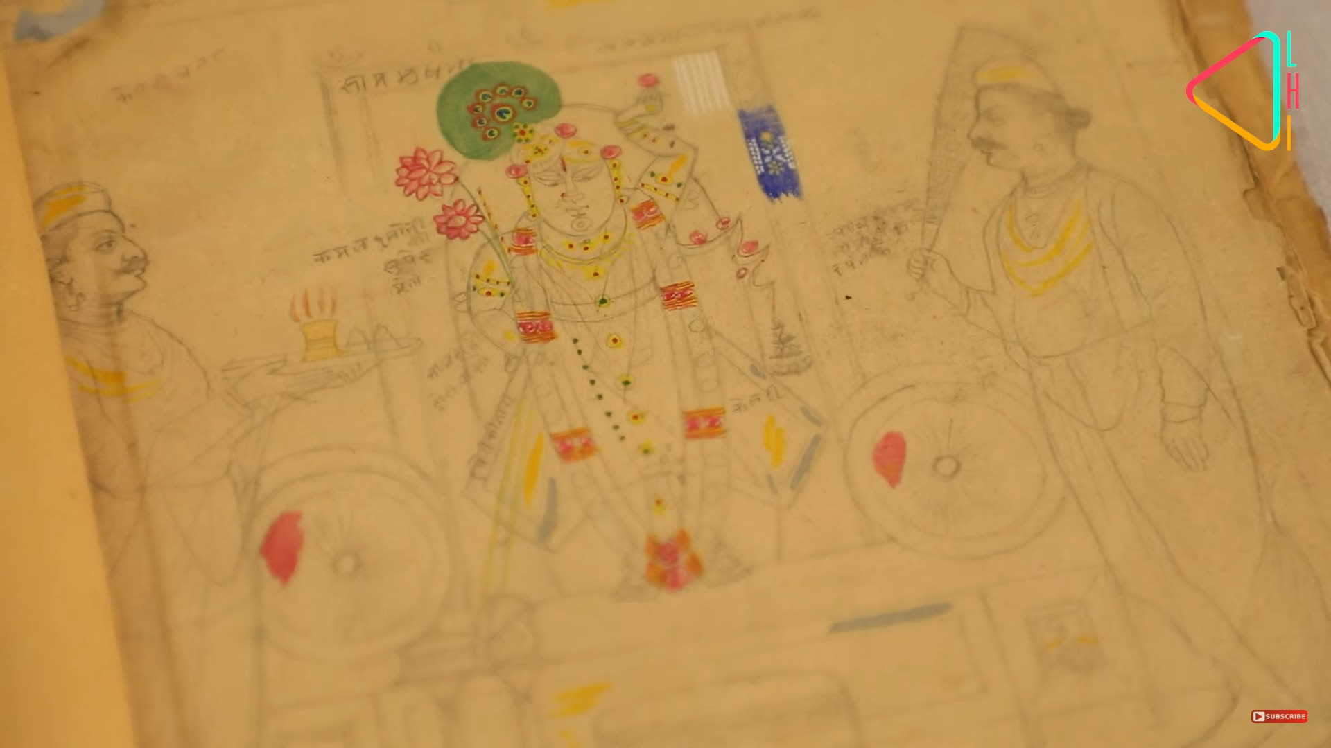 A sketch of the Pichhwai Painting in making   LHI