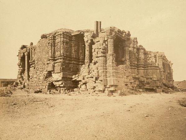 Somnath Temple ruins, 1869