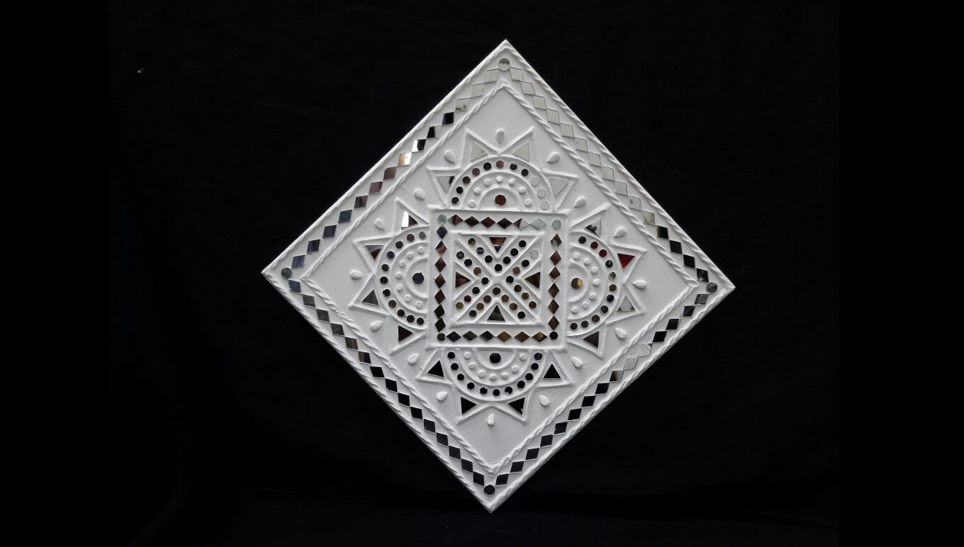 Lippan work with geometric patterns and mirrors