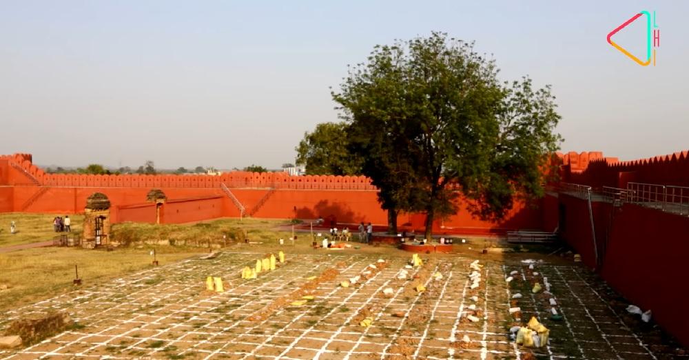 Excavation undertaken within the fort, 2018 | LHI