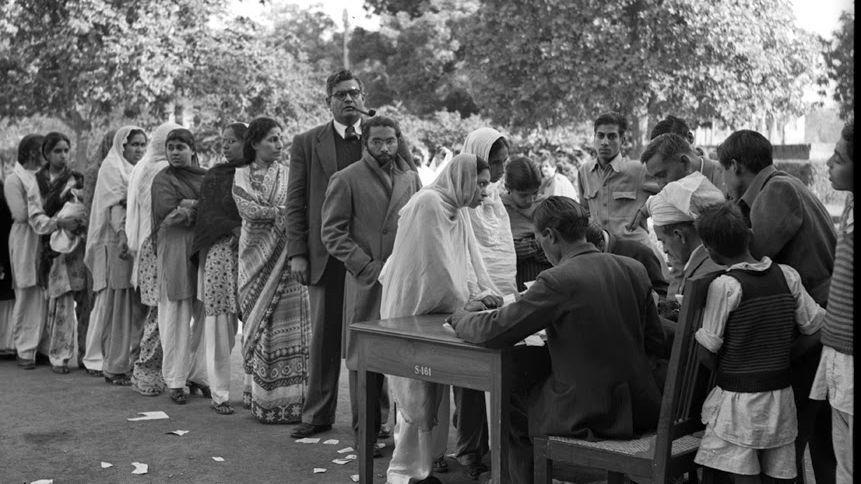 Polling Station, Delhi. 1952