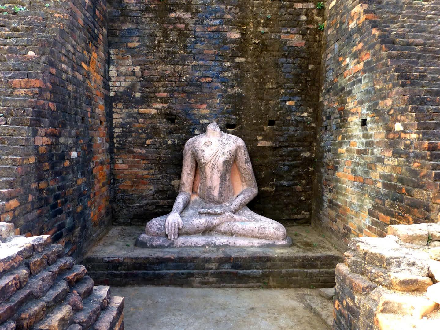 A Buddha sculpture discovered from Kesariya
