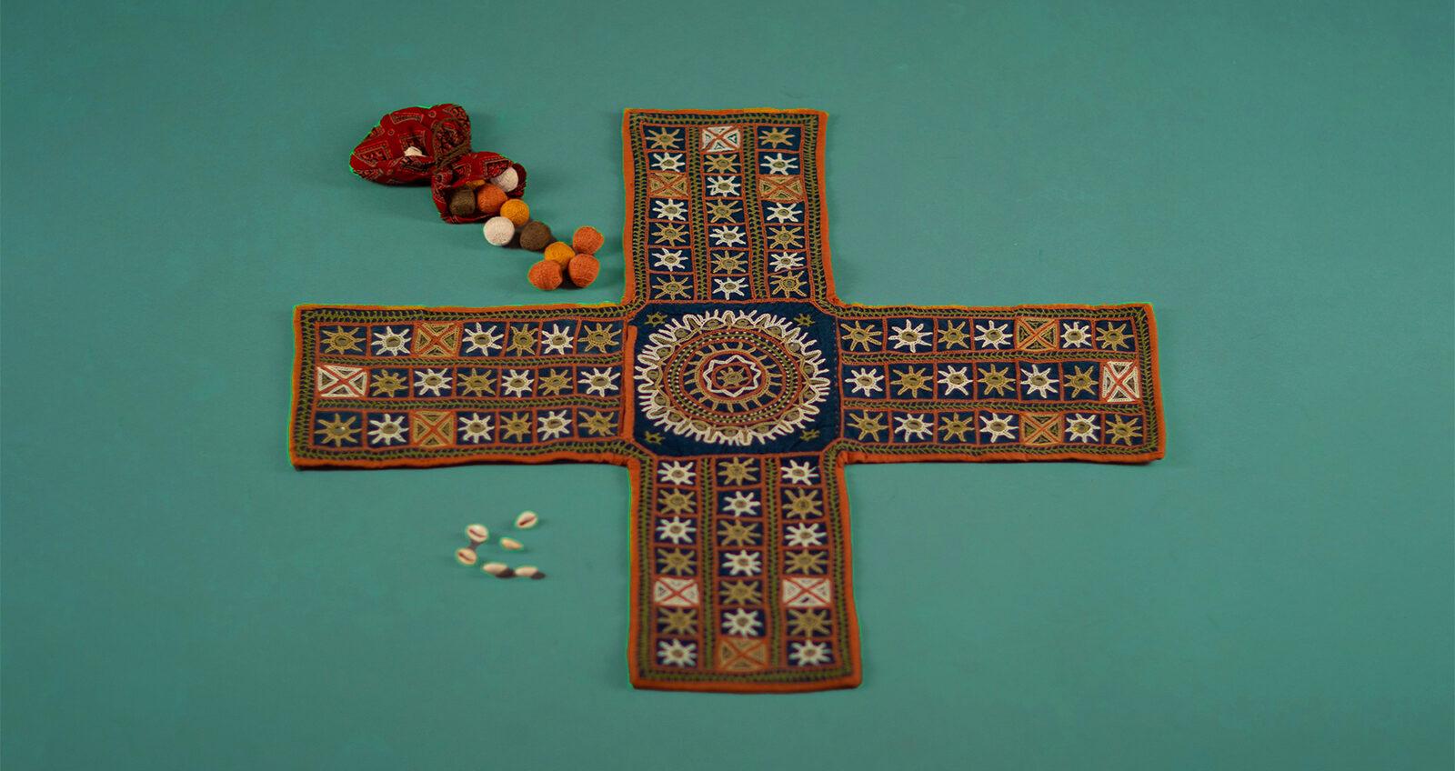 Embroidered Chaupad set from Peepul Tree